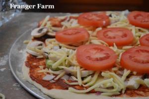 Homemade pizza.